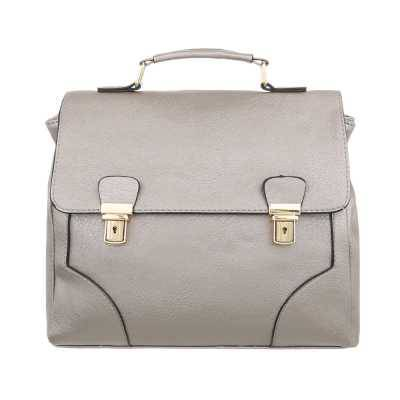 Kleine Damen Tasche Grau Silber