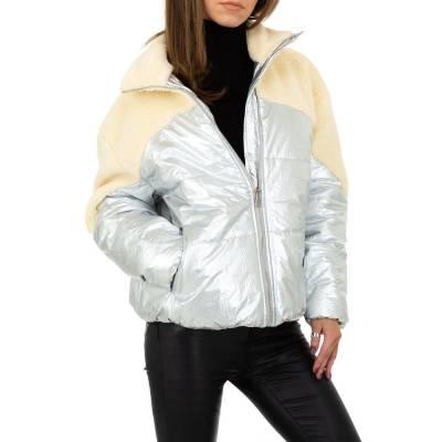Winterjacke für Damen in Silber