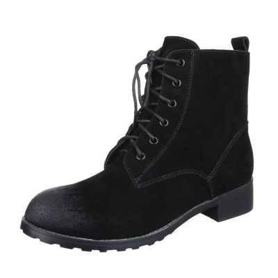 Schnürstiefeletten für Damen in Schwarz