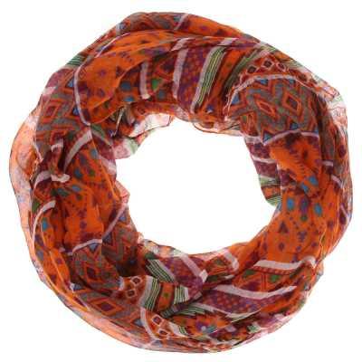 Loop Mit Print Schal Orange