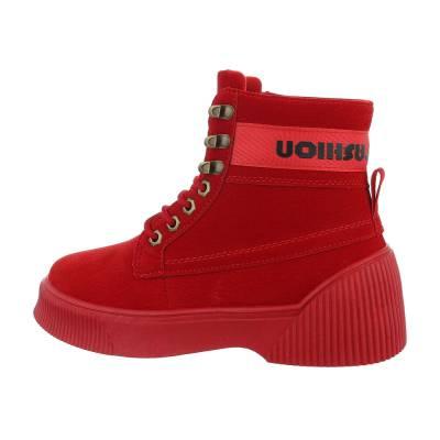 Sneakers high für Damen in Rot