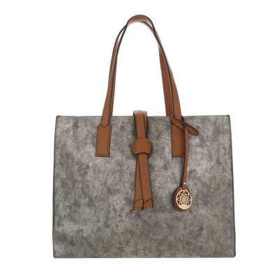 Große Damen Tasche Gold Silber