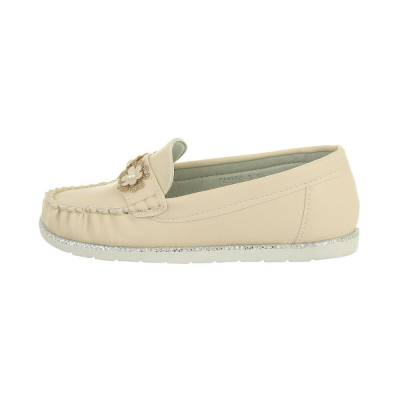 Slipper für Kinder in Beige