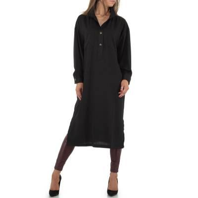 Longbluse für Damen in Schwarz