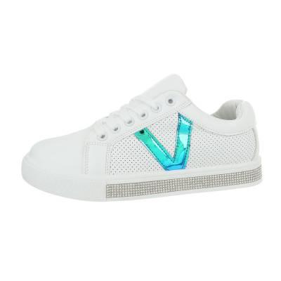 Sneakers low für Damen in Weiß und Blau