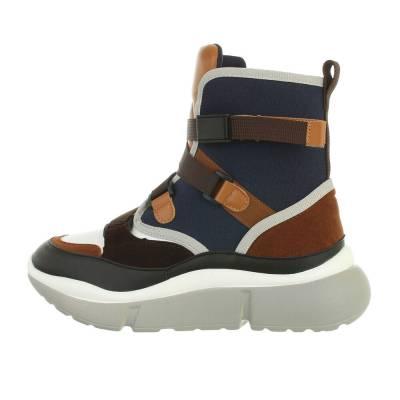 Sneakers high für Damen in Blau und Braun