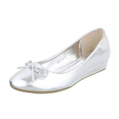 Keilpumps für Damen in Silber