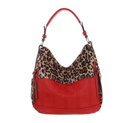 Große Damen Tasche Rot Beige