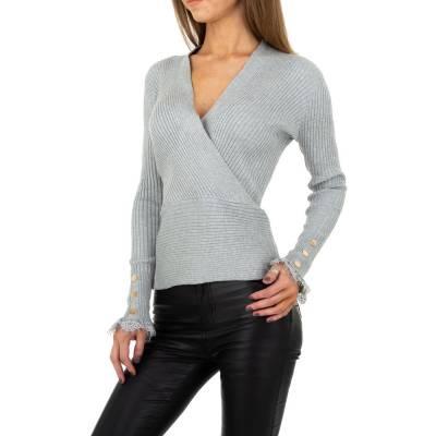 Strickpullover für Damen in Grau