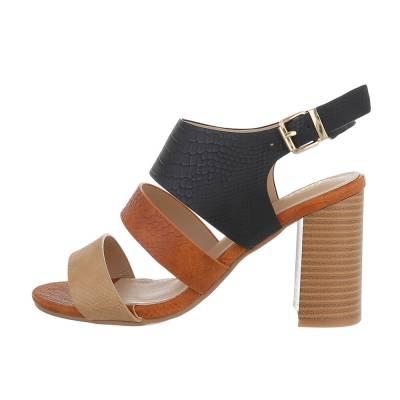 High Heel Sandaletten für Damen in Schwarz und Braun