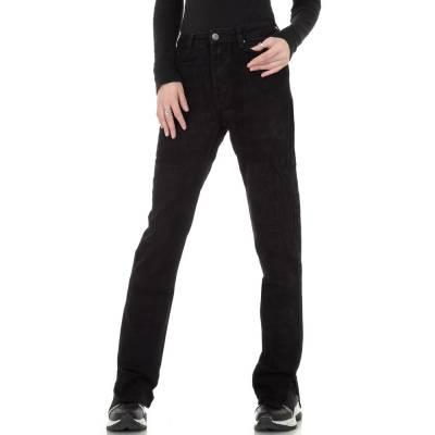 Straight Leg Jeans für Damen in Schwarz