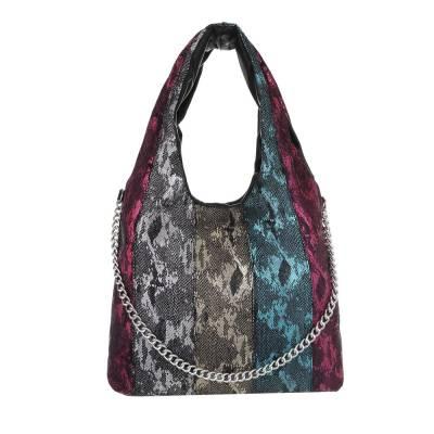 Mittelgroße Damen Tasche Lila Multi