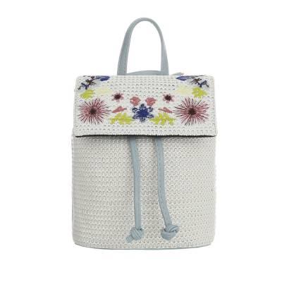 Sehr Kleine Damen Tasche Hellblau Weiß