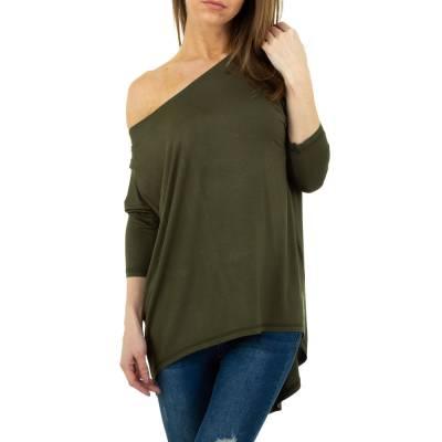 Langarmshirt für Damen in Grün
