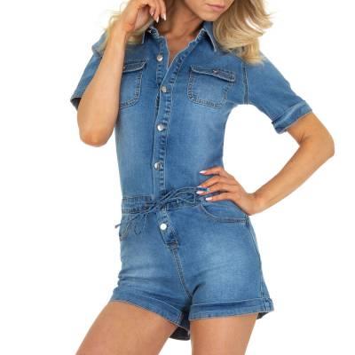 Kurze Jumpsuits für Damen in Blau und Hellblau