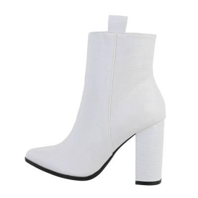 High Heel Stiefeletten für Damen in Weiß