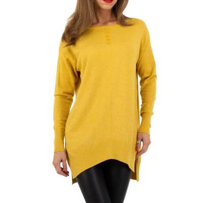 Longpullover für Damen in Gelb
