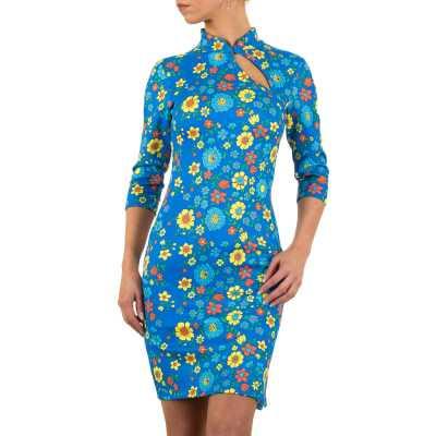 Stretchkleid für Damen in Blau