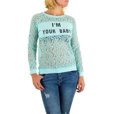 Langarmshirt für Damen in Türkis