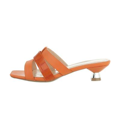 Pantoletten für Damen in Orange