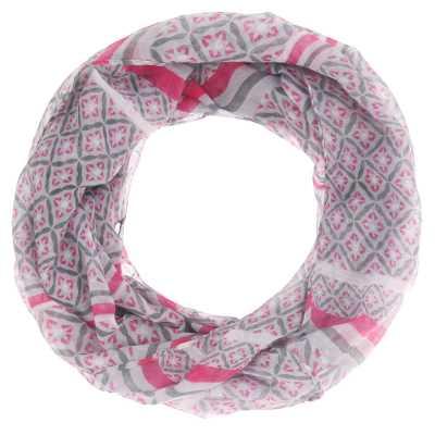 Loop Mit Print Schal Pink Rosa