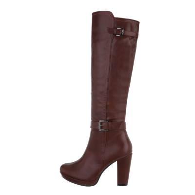 High Heel Stiefel für Damen in Rot
