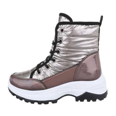 Sneakers high für Damen in Braun und Gold