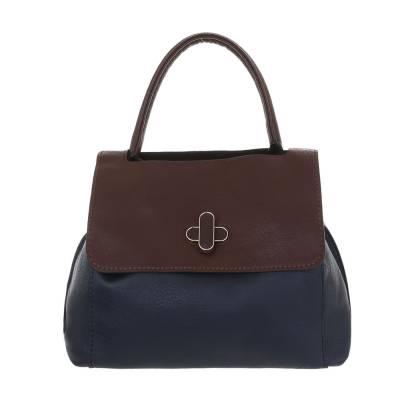 Mittelgroße Damen Tasche Blau Braun