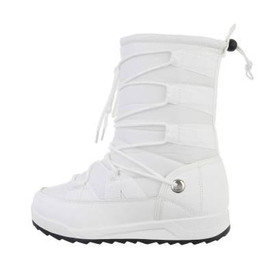 Keilstiefel für Damen in Weiß