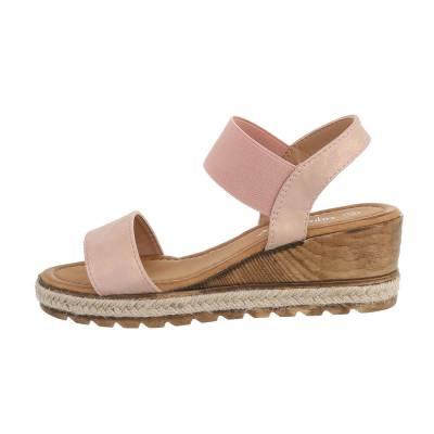 Keilabsatz Damen Sandalen Altrosa