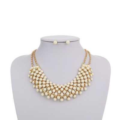 Halskette für Damen in Beige