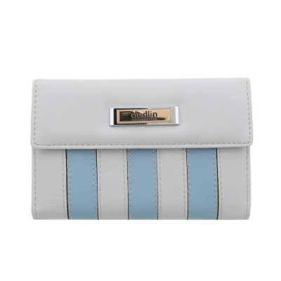 Portemonnaie Damen Geldbörse Grau Blau