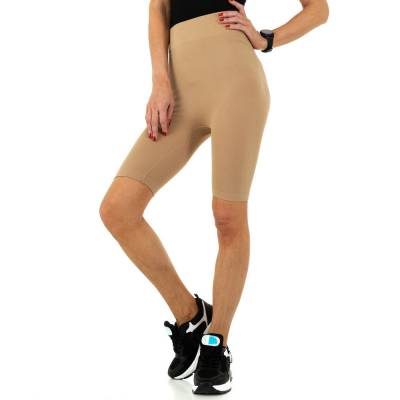 High Waist Shorts für Damen in Beige