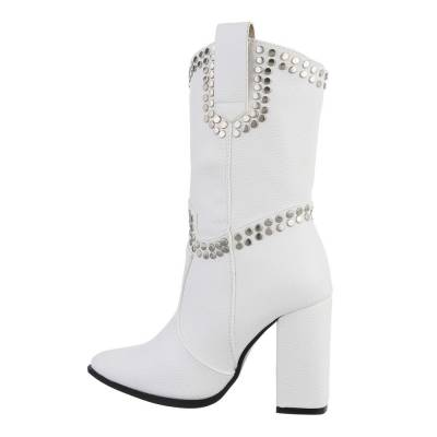 High Heel Stiefel für Damen in Weiß