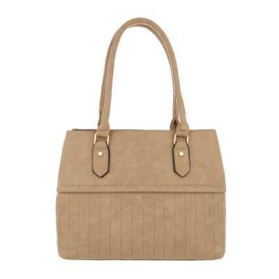 Mittelgroße Damen Tasche Beige Braun