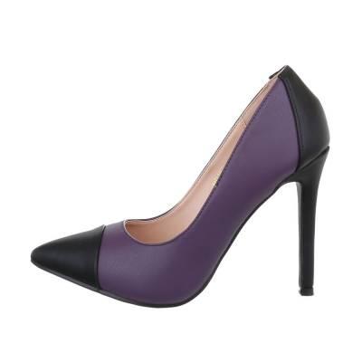 High Heel Pumps für Damen in Lila und Schwarz