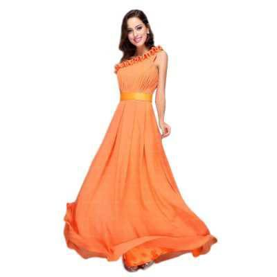 Abendkleid für Damen in Orange
