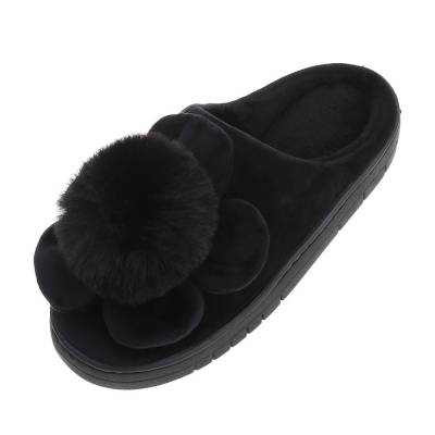 Hausschuhe für Damen in Schwarz
