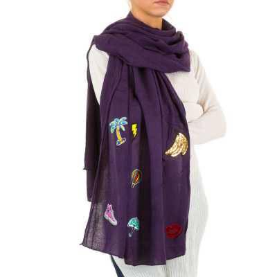 Schal für Damen in Lila