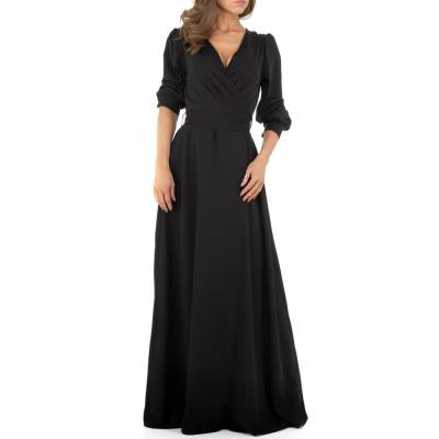 Maxikleid für Damen in Schwarz