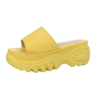 Plateausandaletten für Damen in Gelb