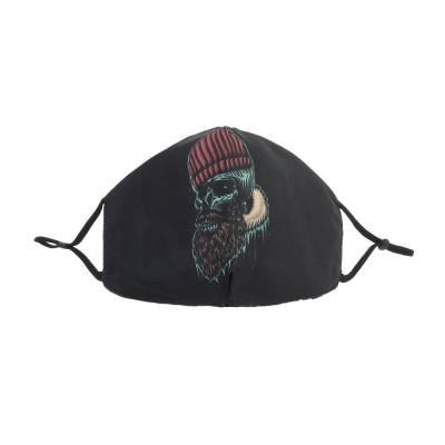 Verstellbare Gesichtsmaske Mundschutz Maske Schwarz