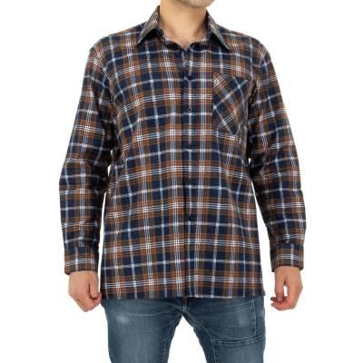 Hemd für Herren in Braun