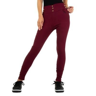 Skinny-Hose für Damen in Weinrot