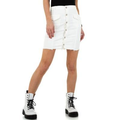 Jeansrock für Damen in Weiß