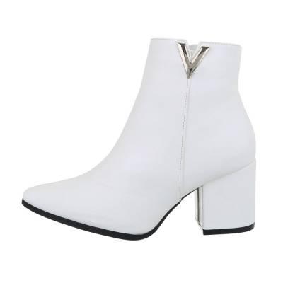 Stiefeletten für Damen in Weiß