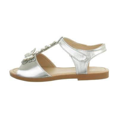 Sandalen für Kinder in Silber