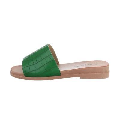 Pantoletten für Damen in Grün