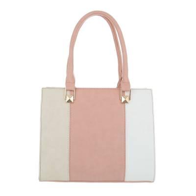 Kleine Damen Tasche Rosa Weiß