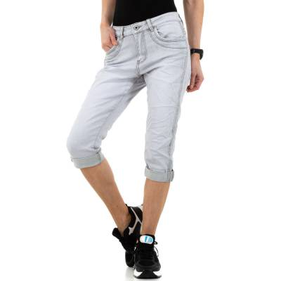 Capri-Jeans für Damen in Grau